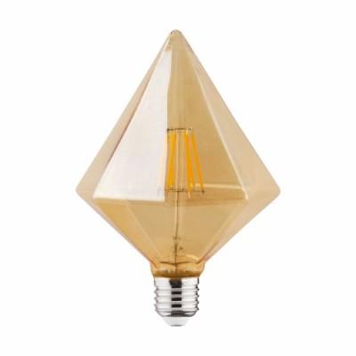 Лампа HOROZ светодиодная филамент 6W 2200К E27 Пирамида