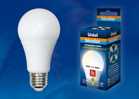 LED-A60-9W/WW+NW/E27/FR PLB01WH  uniel