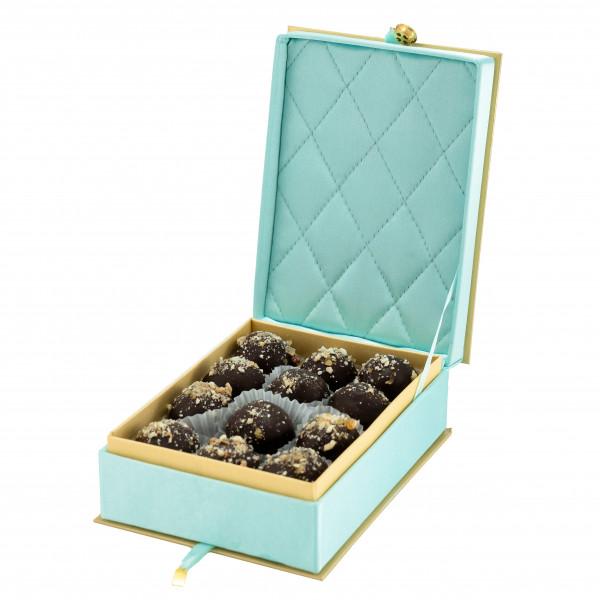 """Пастильные конфекты в темном шоколаде """"Бирюзовая шкатулка"""""""