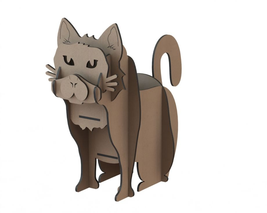 Органайзер из дерева настольный кот