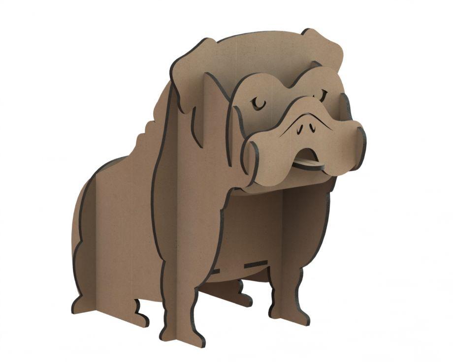 Органайзер из дерева настольный собака