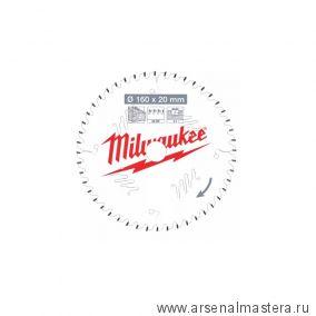 Диск для циркулярных пил по дереву MILWAUKEE CSB P W 160 X 20 X 2,2 X 48 ATB 4932471291
