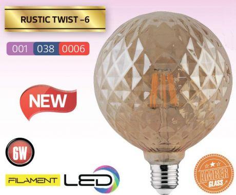 Лампа светодиодная Horoz филаментная 6W 2200K E27 Твист
