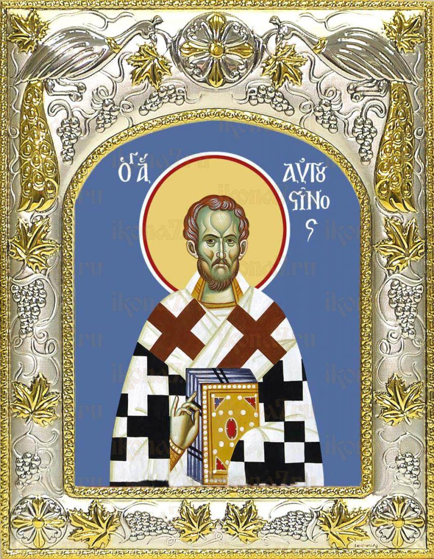 Икона Августин блаженный  (14х18)