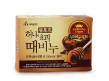 MKH Отшелушивающее и увлажняющее мыло для тела и лица с мёдом и скорлупой каштанов, 100 г