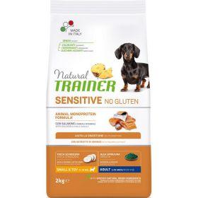 Natural Trainer Sensitive  No Gluten* Adult Dog Mini Сухой корм для собак мелких пород, с лососем. 800 гр