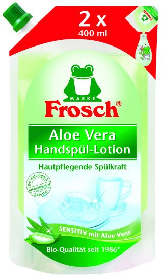 Frosch Средство для мытья посуды Алоэ вера запасной блок 0,8 л