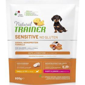 Natural Trainer Sensitive No Gluten* Puppy & Junior Сухой корм для щенков мелких пород с лососем, 800 гр