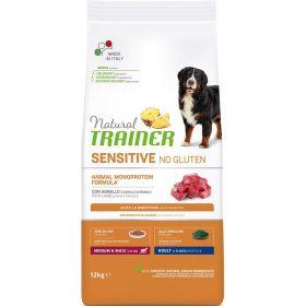 Natural Trainer Sensitive No Gluten* Medium&Maxi Adult Dog Сухой корм для взрослых собак средних и крупных пород c ягненком, 3кг