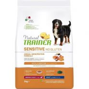 Natural Trainer Sensitive No Gluten*  Medium&Maxi Adult Dog Сухой корм для собак средних и крупных пород с лососем, 3 кг