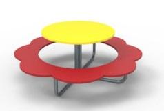 """Столик детский со скамьями """"Ромашка-1"""" СЛ-033"""
