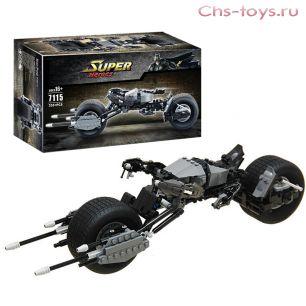 Конструктор Decool Super Heroes Крутой Мотоцикл Бэтмена 7115(Аналог LEGO Bat-Pod 5004590) 338 дет