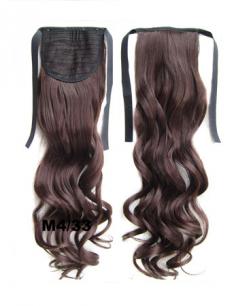 Искусственные термостойкие волосы - хвост волнистые №M4/33 (55 см) -  80 гр.