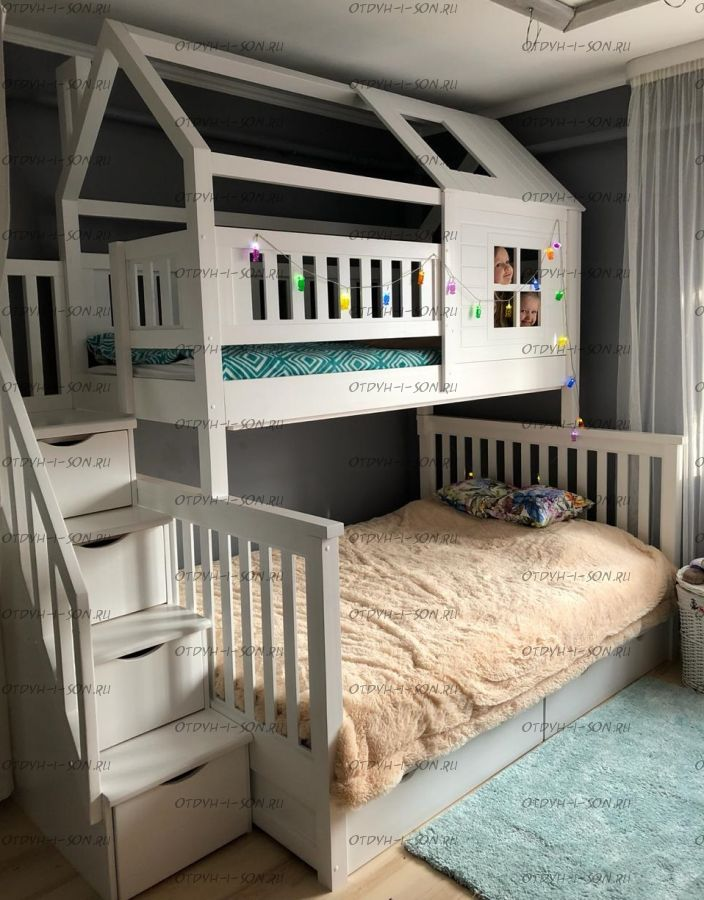 Двухъярусная кровать Домик Felicia №24+