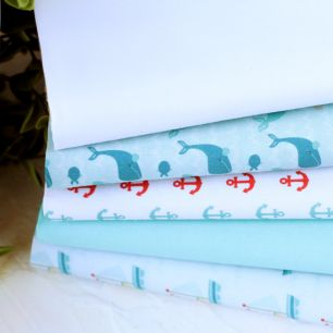 Набор тканей для пошива Морские киты