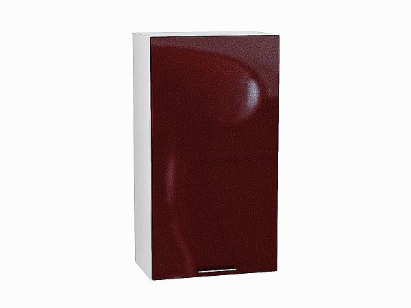 Шкаф верхний Валерия В509 (гранатовый металлик)