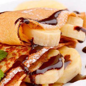 Блины с шоколадной пастой, бананами, сметаной 170г