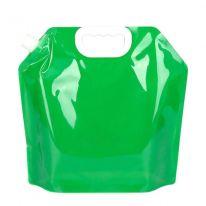 Складная канистра для воды с вакуумным клапаном, 5 л, зелёный