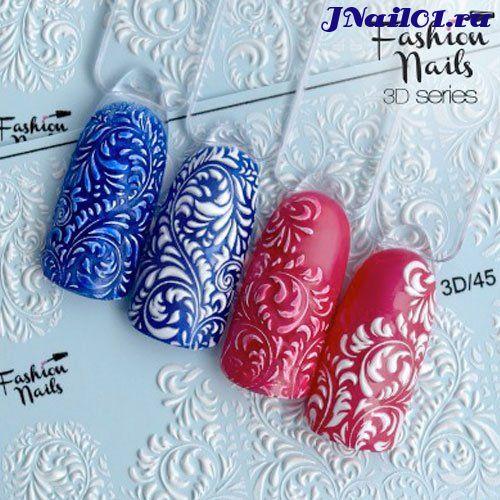Fashion Nails, Слайдер-дизайн 3D-45