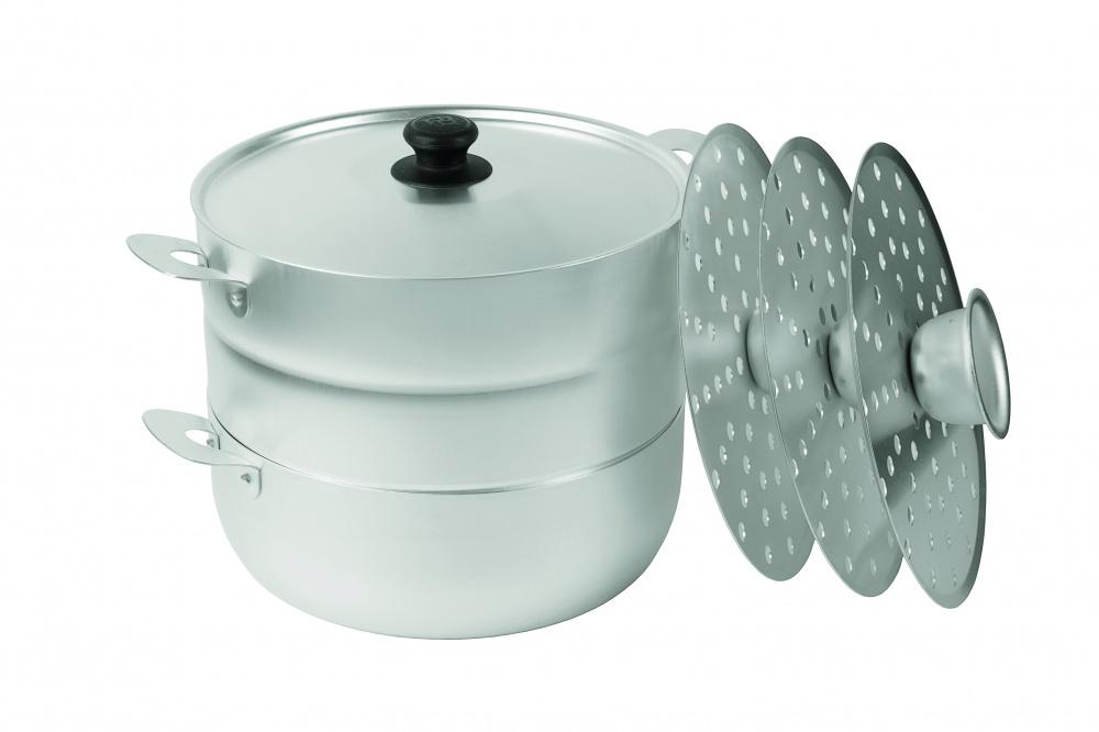 Мантоварка алюминиевая 4,5 литра с 3 сетками  диаметр 26 см до 2,1 кг  Манты-Казан Калитва 18453