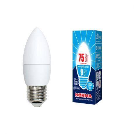 Светодиодная лампа NORMA LED-C37-9W/NW/E27/FR/NR