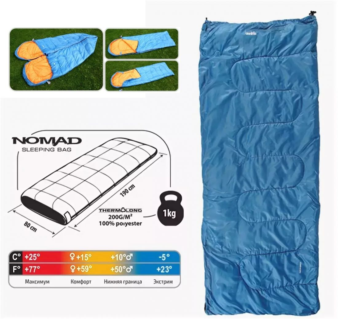 Спальный мешок COMFORTIKA NOMAD 190х80см
