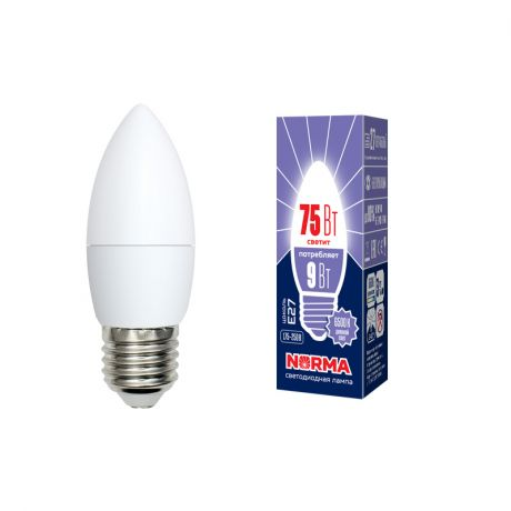 Светодиодная лампа NORMA LED-C37-9W/DW/E27/FR/NR