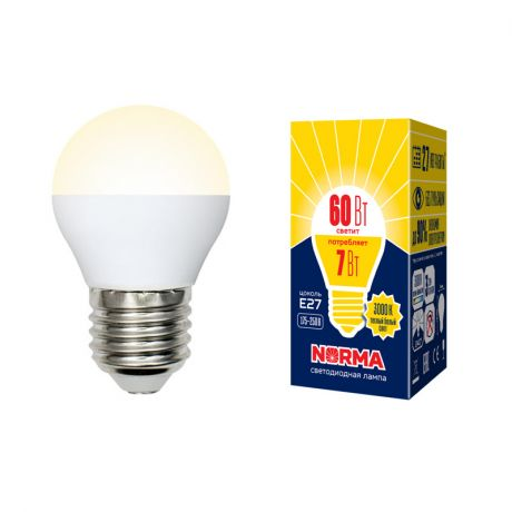 Светодиодная лампа NORMA LED-G45-7W/WW/E27/FR/NR