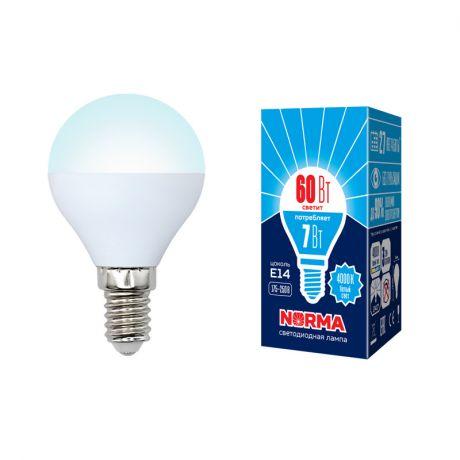 Светодиодная лампа NORMA LED-G45-7W/NW/E14/FR/NR