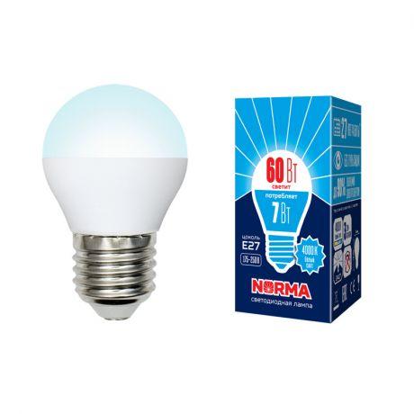 Светодиодная лампа NORMA LED-G45-7W/NW/E27/FR/NR