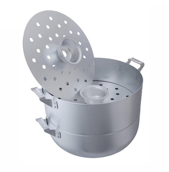 Мантоварка алюминиевая эконом 4,5 литра с 3 сетками диаметр 26 см Манты-Казан SKOVO МТ-039