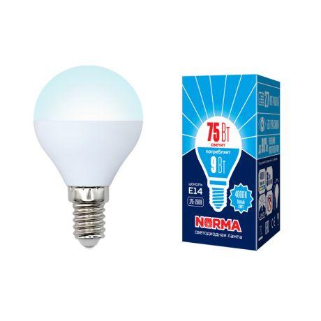 Светодиодная лампа NORMA LED-G45-9W/NW/E14/FR/NR
