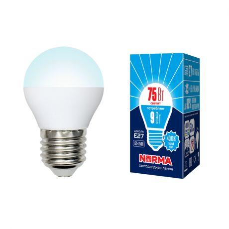 Светодиодная лампа NORMA LED-G45-9W/NW/E27/FR/NR