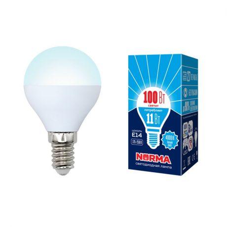 Светодиодная лампа NORMA LED-G45-11W/NW/E14/FR/NR
