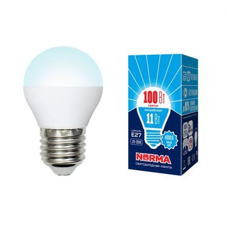 Светодиодная лампа NORMA LED-G45-11W/NW/E27/FR/NR