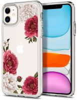 Купить чехол Spigen Ciel Cecile для iPhone 11 прозрачный чехол с рисунком для Айфон 11 в Москве в интернет магазине аксессуаров для смартфонов elite-case.ru
