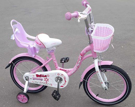 Велосипед детский Bella с креслом для куклы Rose