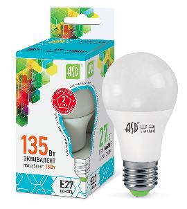 Лампа сд LED-A60-std 15Вт 230В Е27 4000К 1350Лм ASD