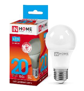 Лампа сд LED-A60-VC 20Вт 230В Е27 4000К 1800Лм IN HOME