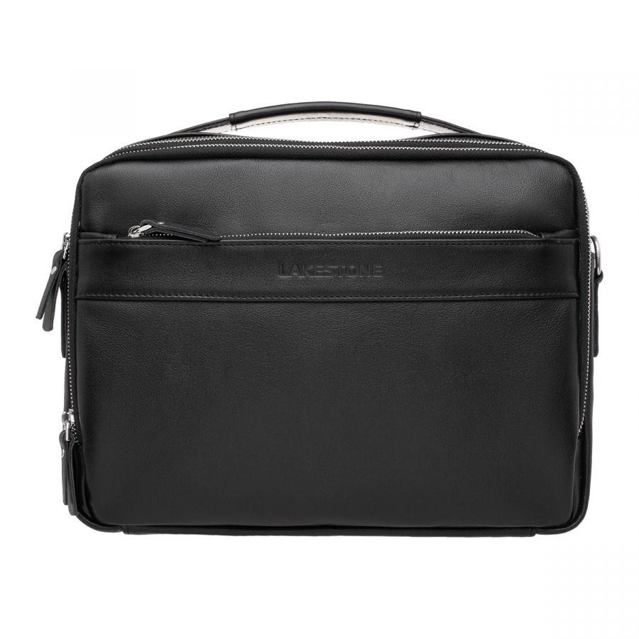 Кожаная мужская сумка LAKESTONE Anhor Black