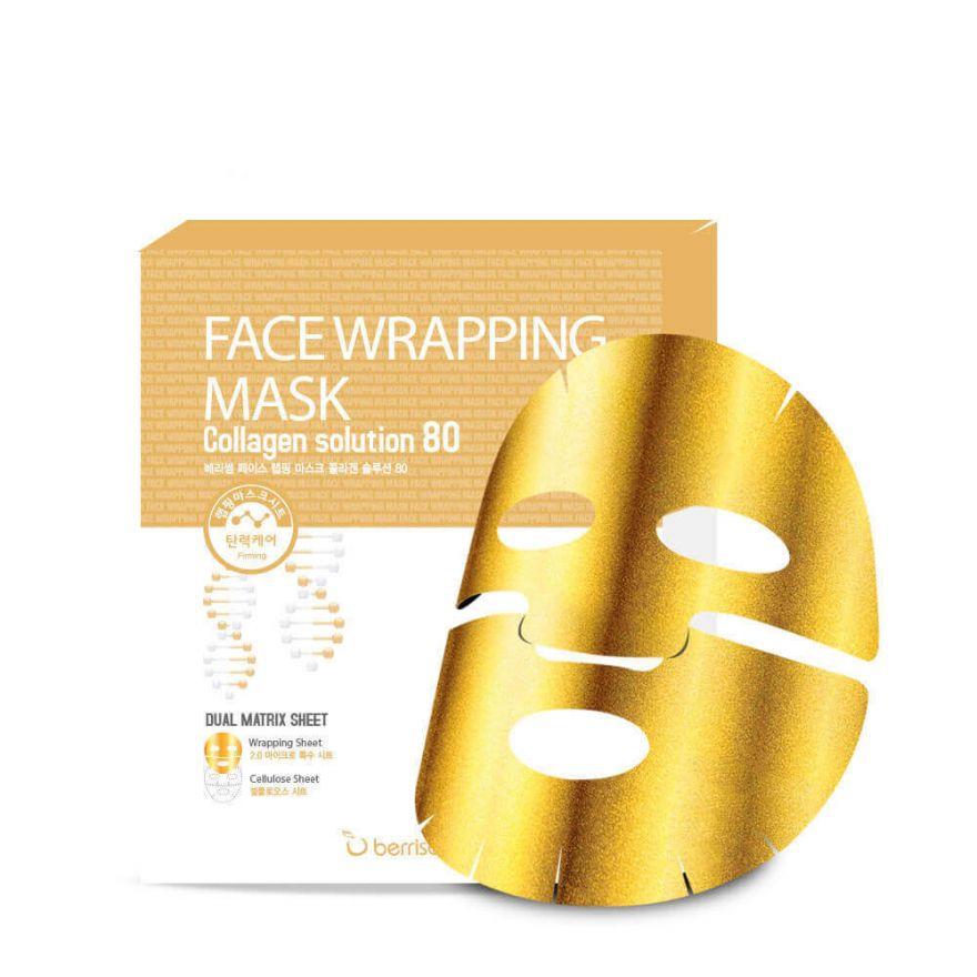 Маска-обертывание для лица с коллагеном BERRISOM Face Wrapping Mask Collagen Solution 80