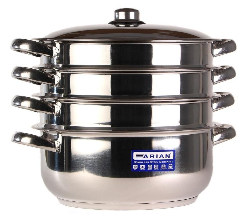 Мантоварка для индукционной плиты Arian Gastro Турция диаметр 30 см с 3 сетками 001-249