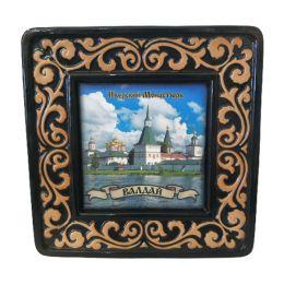 """Панно """"Иверский монастырь"""" 22 см. (керамика, глазурь)."""