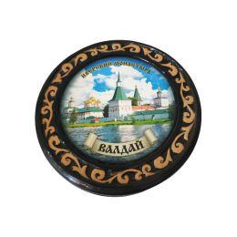 """Шкатулка """"Иверский монастырь"""" (керамика, глазурь)."""
