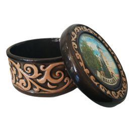 """Шкатулка """"Троицкий собор"""" (керамика, глазурь)."""