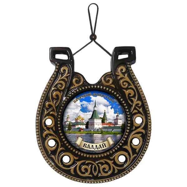 """Подкова """"Иверский монастырь"""" 18 см. (керамика, глазурь)."""
