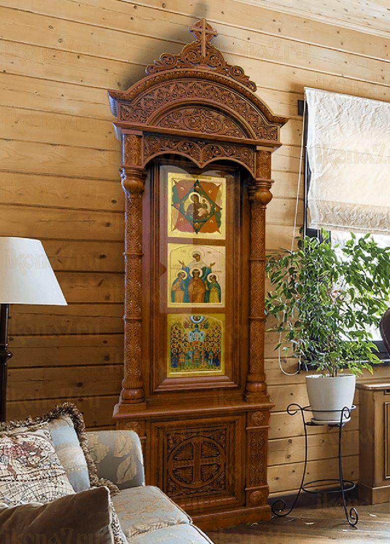 Домашний иконостас с тумбой тип 4
