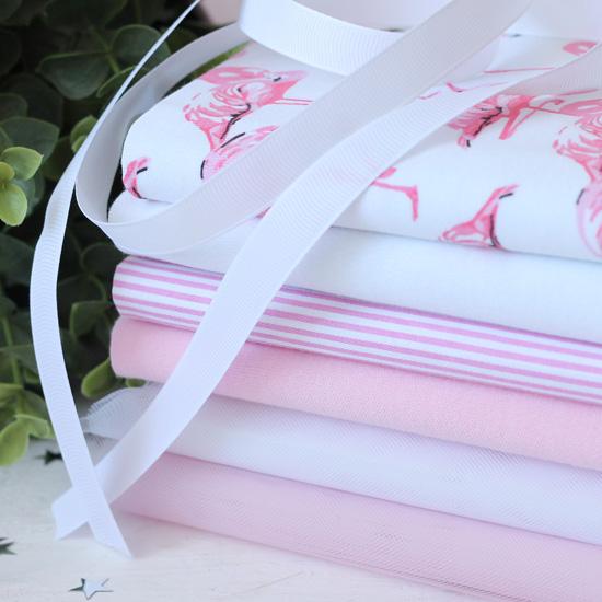 Набор тканей для пошива Фламинго