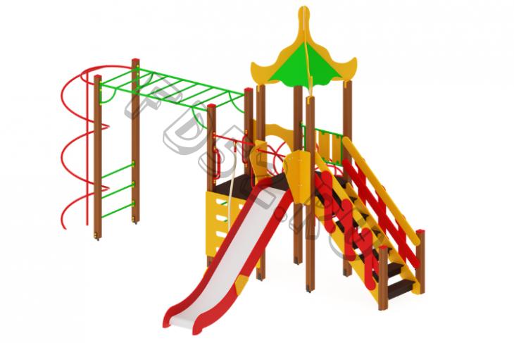 Детский игровой комплекс «Азия» H=1500 6180х5190х4200