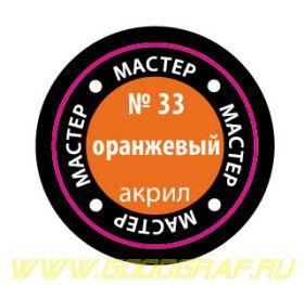 33-МАКР Краска оранжевая